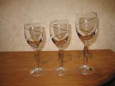 SPIEGELAU *NEW* SPIRALE NOIR Set 3 Verres Glasses