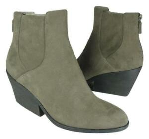 Eileen Fisher women boots ankle gray Shadow Suede leather booties Peer sz 7 new