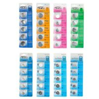 5Pcs CR1216 CR1220 CR1616 CR1632 CR2016 CR2025 Alkaline Button Cell Coin Battery
