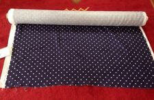 Ralph Lauren Home 100% Linen Little Jeanne Polka Dot Navy Blue Fabric 31.9y Bolt