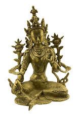 Statue tibetaine de Green Tara Verte Bodhisattva Tibet 2kg700  27cm Laiton 25646