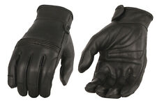 Mens Premium Leather Riding Gloves, Gel Palm & Flex Knuckles MG7535
