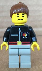 LEGO ®-Minifigur Town City Feuerwehrfrau Pferdeschwanz Set 9293 - firec012