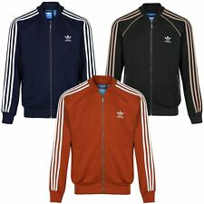 adidas ORIGINALS SUPERSTAR TRACK TOP MEN'S GREEN RED NAVY ZIP RETRO S M L XL