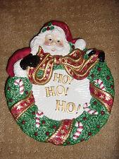 Fitz and Floyd Christmas Santa Dish Ho! Ho! Ho! No Box
