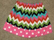 Chevron Polka Dot Skirt Size 4