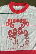Vintage Mens M 70s 80s Alabama Concert Tour Nylon Country Rock Music T-Shirt