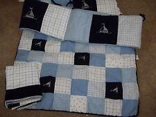 Nautica Kids William Nautical Sailboats Crib Skirt & Bumper Pads Set  baby Boys