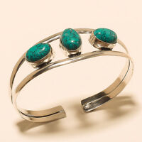 Free Shipping Turquoise 925 Sterling Silver Overlay Cuff Jewelry If101