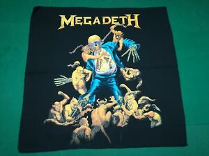 MEGADETH   Rust in Peace  - Rare  Vintage BANDANA  cm.52x52  -  Made in Italy.