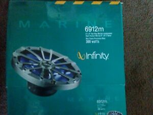 "2x Infinity 6.5"" 300-Watt High-Performance 2-Way Marine Loud Speakers Nip blue"