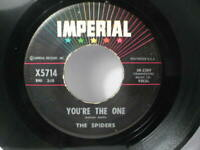 "RARE 60'S GARAGE 45 ""THE SPIDERS"" YOU'RE THE ONE / TENNESSEE SLIM IMPERIAL-X5714"