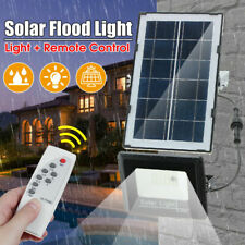 50W LED Solar Panel Light Motion Sensor Security Outdoor Floodlight Lamp Remote