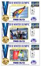 MARIA RIESCH 2010 OLYMPIC SKI SLALOM SET OF GOLD COVERS