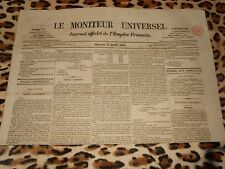 LE MONITEUR UNIVERSEL, journal officiel de l'empire français, n° 195, 14/07/1858