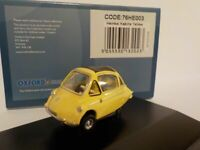Heinkel - Bubble Car - yellow,Oxford Diecast 1/76 New Release