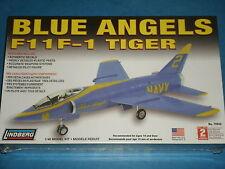 Lindberg Model KIT:  BLUE ANGELS F11F-1 TIGER  Model Kit (Easy To Assemble) 10+