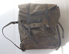 Vintage Swiss Army Rubberized Mountain Backpack w leather base & straps