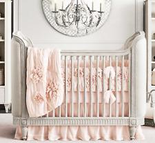 RH Restoration Hardware Baby & Child Crib Skirt Petal Pink Cotton Baby Girl