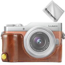 Leather Half Camera Case Bag for Panasonic Lumix DC-GF9.GX850.GX800 D10
