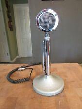 Vintage Astatic CB Ham Radio Power Microphone Model D104 w/ Stand 5 prong plug