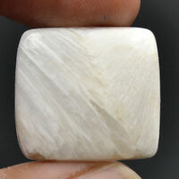 Cts. 20.20 Natural Chatoyancy Scolecite Cabochon Cushion Cab Exclusive Gemstone