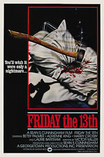 Friday The 13th:Movie Poster:Laminated:A4:!!!!Buy 2 Get 3 FREE!!!!!!