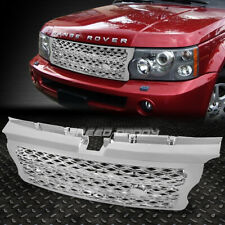 FOR 06-09 RANGE ROVER CHROME ABS PLASTIC FRONT HOOD SPORT HONEYCOMB MESH GRILL