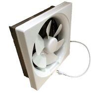 """Plastic Shutter Exhaust Fan 6"""" 8"""" 10"""" 12"""" Garage Shed Pole Barn Ventilation"""
