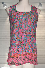Fabulous Indian Gauzy Cotton Printed Summer Tunic Top - ANOKHI - Medium
