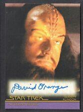 STAR TREK MOVIES HEROES & VILLAINS 2011 AUTOGRAPH CARD #A127 DAVID ORANGE