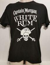 NEW Captain Morgan Men White Rum 100% Cotton T-Shirt Top Size M