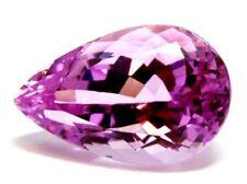 Kunzite 12.64ct pear natural transparent 12.98x11.60x9.68mm pink gemstone loose