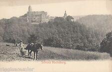 Schloss Rochsburg AK um 1900 Bauer Pferd Handpflug Sachsen 1603012