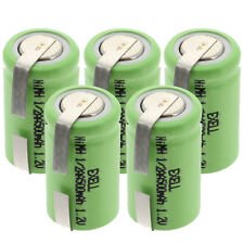 5x Exell 1/2AA Size 1.2V 500mAh NiMH Rechargeable Batteries  w/ Tabs USA SHIP