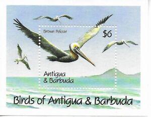 ANTIGUA $6 Brown Pelican Mini Sheet MINT NH