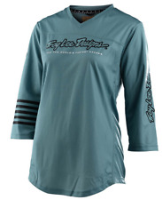 TROY LEE DESIGNS TLD WOMENS DUSK BLUE MISCHIEF 3/4 MTB CYCLE JERSEY size LARGE