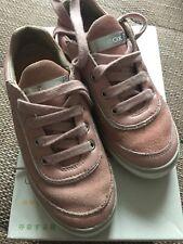 Geox in pelle scamosciata rosa Ragazze Scarpe 30 EU (UK 11.5)