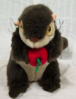 "Steven Smith NICE BROWN SQUIRREL OR OTTER W/ APPLE 10"" Plush STUFFED ANIMAL Toy"