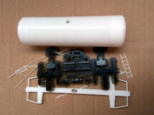 Kit for assembly model of tank cistern RZD SZD HO scale