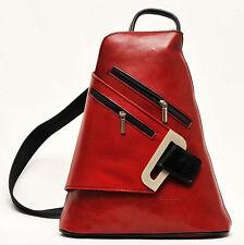Damen-Rucksäcke aus Leder mit Außentasche (n)