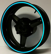 BLUE REFLECTIVE WHEEL STRIPES RIM STICKER TAPE DECAL DUCATI MONSTER 600 690