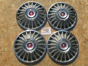 """1967 FORD MUSTANG  14"""" WHEEL COVERS, HUBCAPS, SET OF 4"""