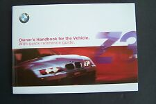 2001 bmw z3  roadster coupe Owners Manual E36 parts 3 Series new factory reprint