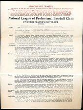 1940 VAN LINGLE MUNGO Brooklyn Dodgers Player Contract