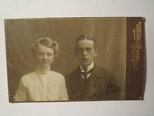 Trelleborg - 1912 - Paar - Mann und Frau - Portrait / CDV Schweden