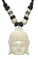 Buddhakette Bone Carving Anhänger Budda Horn KBone7