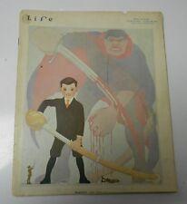 1916 LIFE Magazine #1779 Pro WAR Futuristic Cover by H. Grant Dort WW1 VG