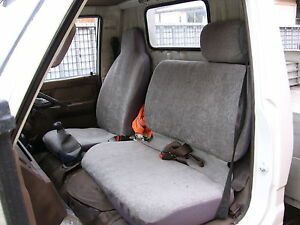 PLAIN GREY SEAT COVER TO SUIT TOYOTA DYNA 1985 - 1990 NARROW CABIN