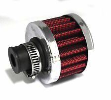 Aire Universal Respirador de filtro-Roja 8mm Cuello Y Abrazadera